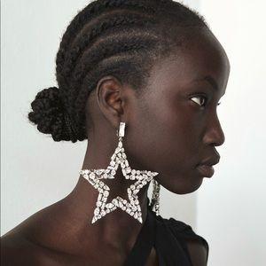 SAINT LAURENT runway Star Earrings NWOT